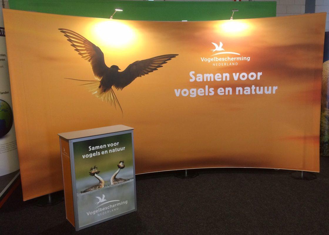 Hoogste kwaliteit flexibele presentatiewand van Vogelbescherming